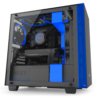 NZXT H400i (黑藍透側)