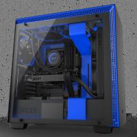 NZXT H700i (黑藍透側)