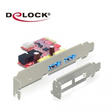 Delock PCI express 擴充卡4 in 1多功能連接埠 USB 3.0 USB Typ...