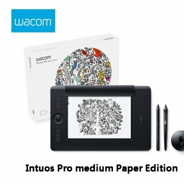 Wacom 和冠 Intuos Pro medium Paper Edition 雙功能專業繪圖板 ...
