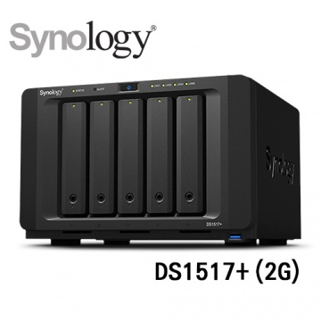 (三年保固) Synology 群暉科技 DiskStation DS1517+ (2G) 5Bay...