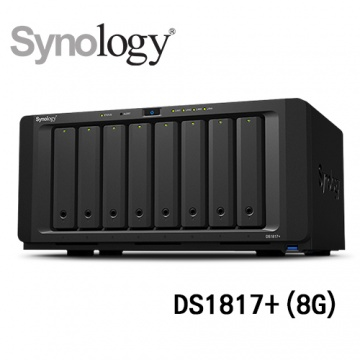 (三年保固) Synology 群暉科技 DiskStation DS1817+ (8G) 8Bay...