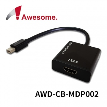 (終身保固) Awesome mini Display Port to HDMI 2.0 轉接器 A...