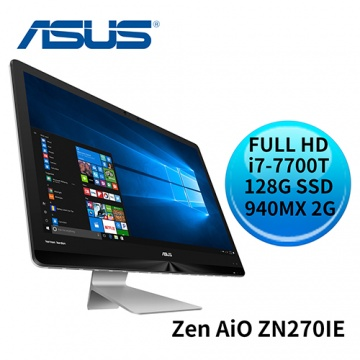 ASUS 華碩 Zen AiO ZN270IE i7-7700T GeForce 940MX 10點觸控螢幕 All-in-One電腦 (ZN270IEGT-770RA001T)