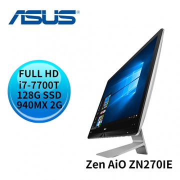 ASUS 華碩 Zen AiO ZN270IE i7-7700T GeForce 940MX  FULL HD 液晶螢幕 All-in-One電腦 (ZN270IEGK-770RA001T)