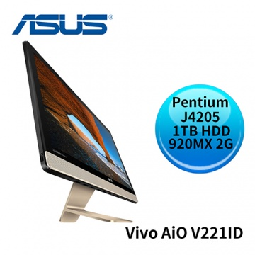 ASUS 華碩 Vivo AiO V221ID Intel Pentium J4205 GeForce 920MX 2GB FULL HD 液晶螢幕 All-in-One 電腦 (V221IDGK-420BA003T)
