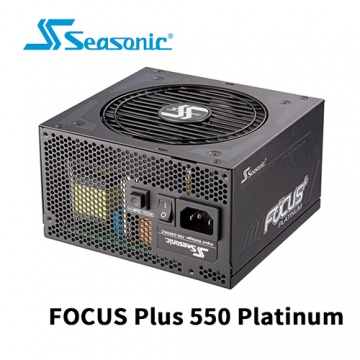 Seasonic 海韻 FOCUS Plus 550W Platinum 全模組 80 PLUS 白...