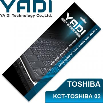 YADI 亞第 超透光鍵盤保護膜 KCT-TOSHIBA 02 TOSHIBA筆電專用 多數M系列、T230、P700等