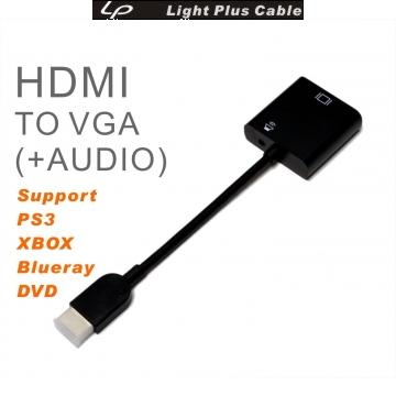 LPC-1865 HDMI TO VGA+AUDIO 轉接線 for PS3 XBOX 藍光DVD FULL HD