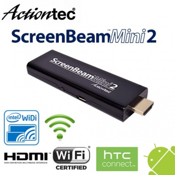 Actiontec SCREENBEAM Mini 2 WiDi/Mircast 無線顯示 接收器