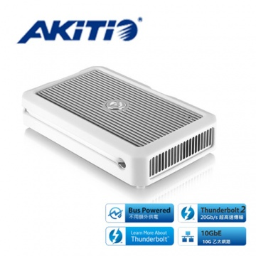 AKiTiO 艾客優品 Thunder2 10G Network Adapter 乙太網路轉接器