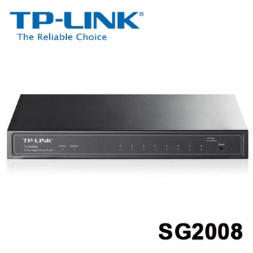 TP-LINK TL-SG2008 8PORT Gigabit 智慧型交換器 SWITCH