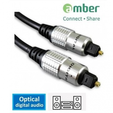 amber [Rock 系列] S/PDIF Optical Digital Audio Cable 光纖數位音 訊傳輸線 Toslink 對 Toslink 2 米 支援 Apple TV HDTV......