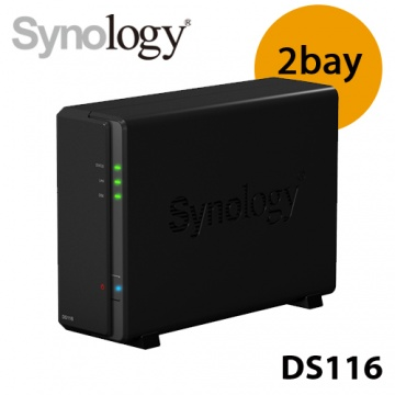Synology 群暉 DiskStation DS116 1Bay 網路儲存系統 NAS