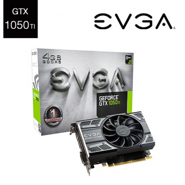 EVGA 艾維克 GeForce GTX 1050 Ti GAMING 04G-P4-6251-KR...