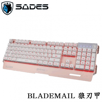 SADES BLADEMAIL ANGEL EDITION 狼刃甲 天使限量版 104KEY 電競鍵...
