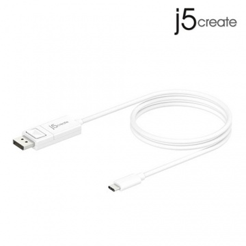 j5create 凱捷 JCA141 USB Type-C to 4k DisplayPort 轉接線