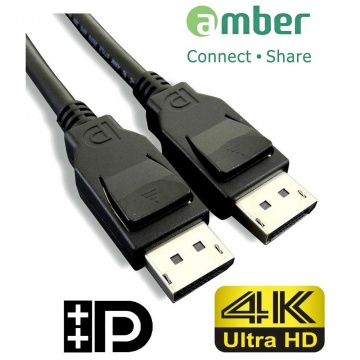 amber VESA DP1.2 認證影音訊號線/DisplayPort 公對 DisplayPort 公/DP to DP/4K/60Hz- 1.8M (Displayport-Displaypor......