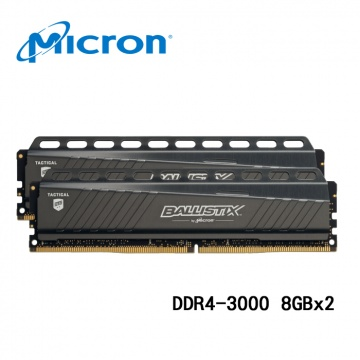Micron 美光 Ballistix Tactical 16GB (2 x 8GB) DDR4-3...