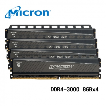 Micron 美光 Ballistix Tactical 32GB (4x8GB) DDR4-300...