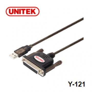 UNITEK 優越者 Y-121 USB to DB25F 轉接線