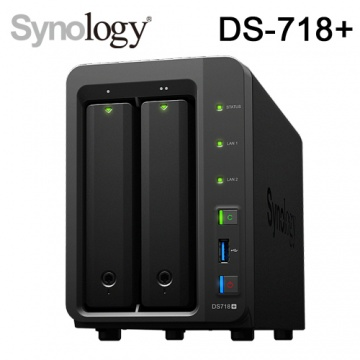 Synology 群暉科技 DS-718+ (DS718 PLUS) 2Bay NAS 網路儲存伺服...