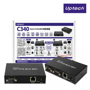 登昌恆 Uptech C340 Cat.5 3-Port KVM延伸器