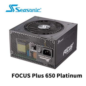 Seasonic 海韻 FOCUS Plus 650W Platinum 全模組 80 PLUS 白...