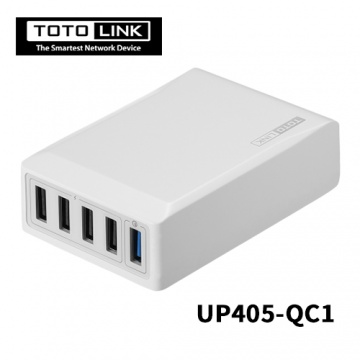 TOTOLINK UP405-QC1 QC3.0 USB 1+4埠閃充充電器