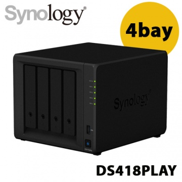 Synology 群暉科技 DiskStation DS418play 4Bay NAS 網路儲存伺...