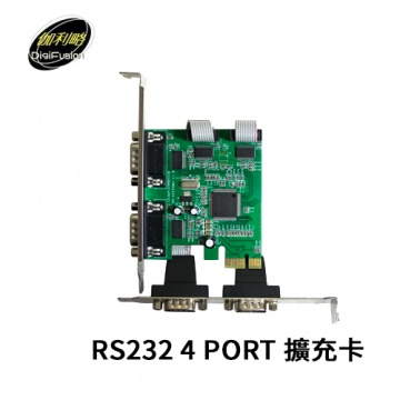 伽利略 PETR04A PCI-E RS232 4 PORT 擴充卡