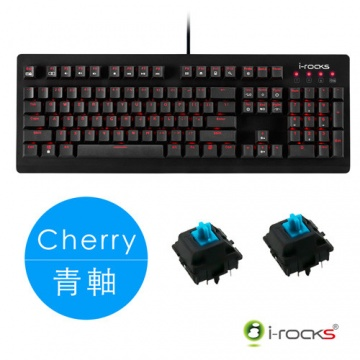 i-Rocks K65MS IRK65MS 單色背光 Cherry 青軸 機械式鍵盤