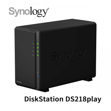 Synology 群暉科技 DiskStation DS218play 2Bay NAS 網路儲存設備