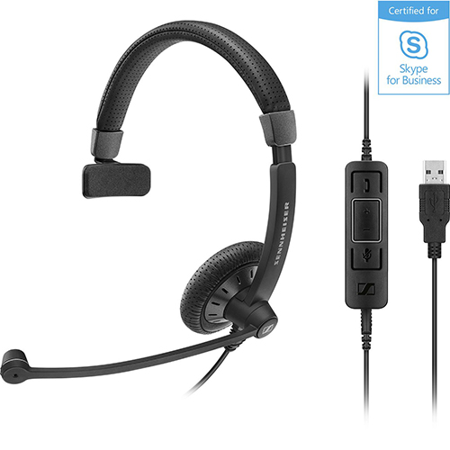 Sennheiser 聲海 SC 45 USB MS 單耳耳麥 Skype for Business...