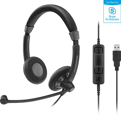 Sennheiser 聲海 SC 75 USB MS 雙耳耳麥 Skype for Business...