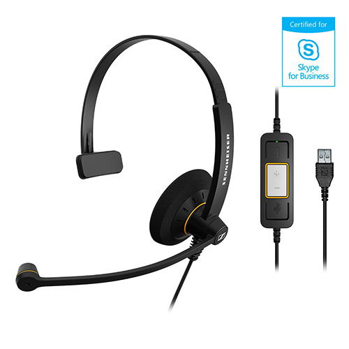Sennheiser 聲海 SC 30 USB ML 單耳耳麥 Skype for Business...