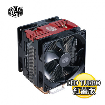 Cooler Master 酷碼 Hyper 212 LED Turbo 12Cm塔型散熱器 (紅蓋版)
