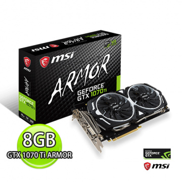 MSI 微星 GeForce GTX 1070 Ti ARMOR 8G 顯示卡