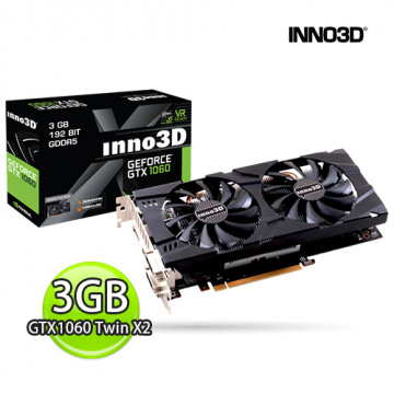 INNO3D 映眾 GTX1060 Twin X2 3GB GDDR5 顯示卡 N106F-2SDN-L5GS