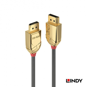 LINDY 36291 GOLD LINE DISPLAYPORT 1.4版 公 TO 公 傳輸線 1M