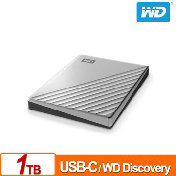 WD My Passport Ultra 1TB 炫光銀 2.5吋 USB Type-C 外接硬碟 WDBC3C0010BSL-WESN