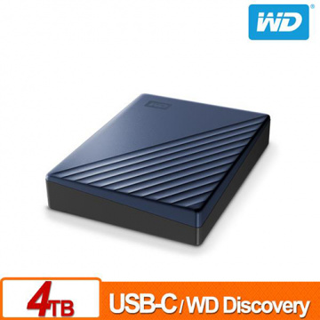 WD My Passport Ultra 4TB 星曜藍 2.5吋 USB Type-C 外接硬碟 WDBFTM0040BBL-WESN