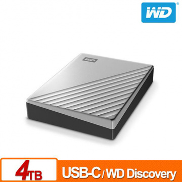 WD My Passport Ultra 4TB 炫光銀 2.5吋 USB Type-C 外接硬碟 WDBFTM0040BSL-WESN