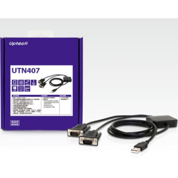 Uptech 登昌恆 UTN407 USB to 2-Port RS-232