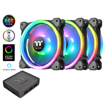 Thermaltake 曜越 Riing Trio 12 LED RGB水冷排風扇TT Premiu...