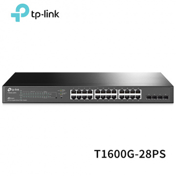 TP-LINK T1600G-28PS (TL-SG2424P) JetStream 24埠 Gig...