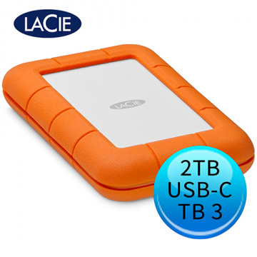 LaCie Rugged 2TB Thunderbolt USB Type-C 2.5吋 外接硬碟 STFS2000800