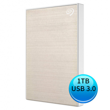 (2019新款)Seagate BACKUP PLUS SLIM 1TB USB3.0 2.5吋 外接硬碟 香檳金 STHN1000404