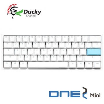 Ducky One 2 Mini 白色版 60% PBT二色成形不破孔 Cherry MX RGB ...