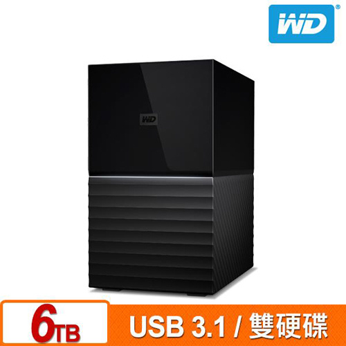 WD My Book Duo 6TB(3TBx2) USB3.1 3.5吋 雙硬碟外接儲存裝置